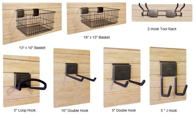 Slat Wall Storage Organizers Accessories